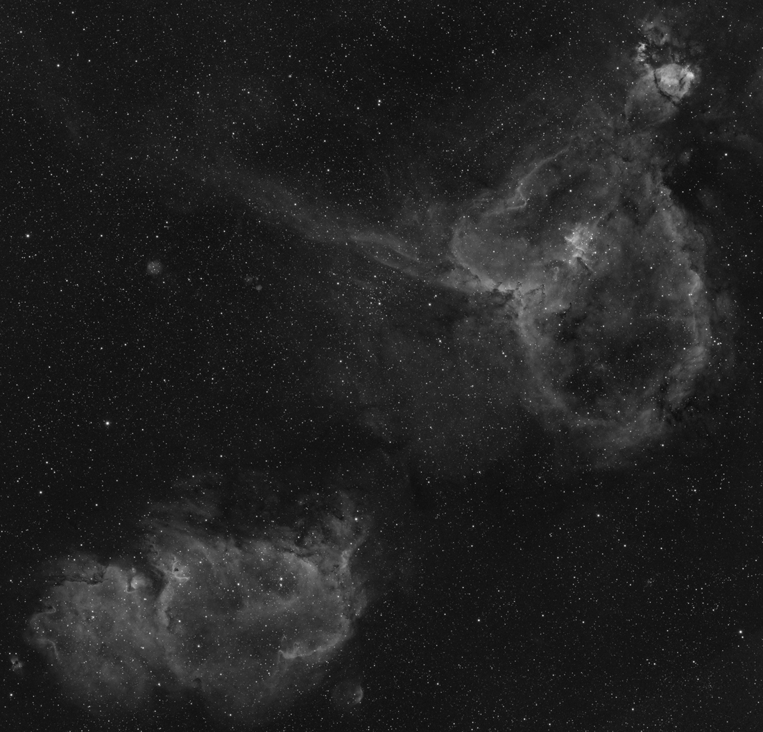 Image of IC1805, 1848, H-alpha